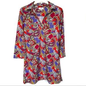 Jude Connally | Multicolored Paisley Dress Size S